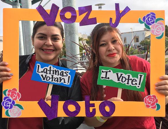 Mission Adelante Voz y Voto Latinas Votan